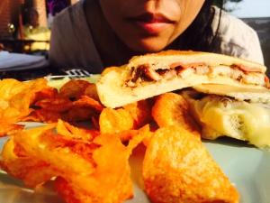 My favorite Cuban sandwich with Serrano ham and sliced pork belly #evas